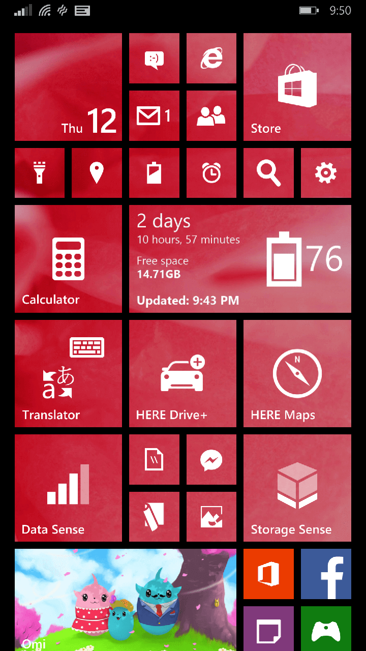 Battery Status Tile on Start Screen in Windows Phone