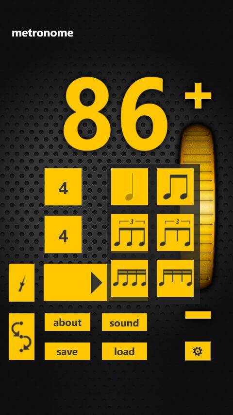 Metronome - selecting rhythm