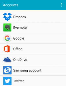 accounts sync settings android