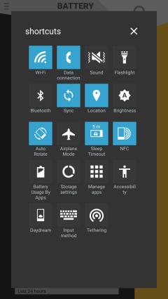 battery status settings shortcuts
