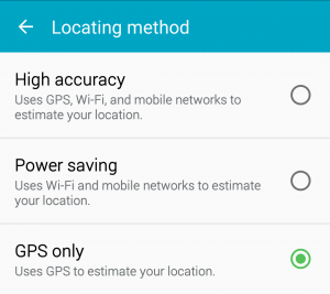location services modes