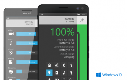 Battery Status released for Windows 10 Mobile