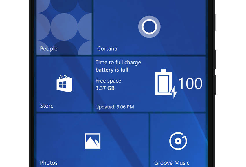 How real time live tile in Battery Status 10 works?
